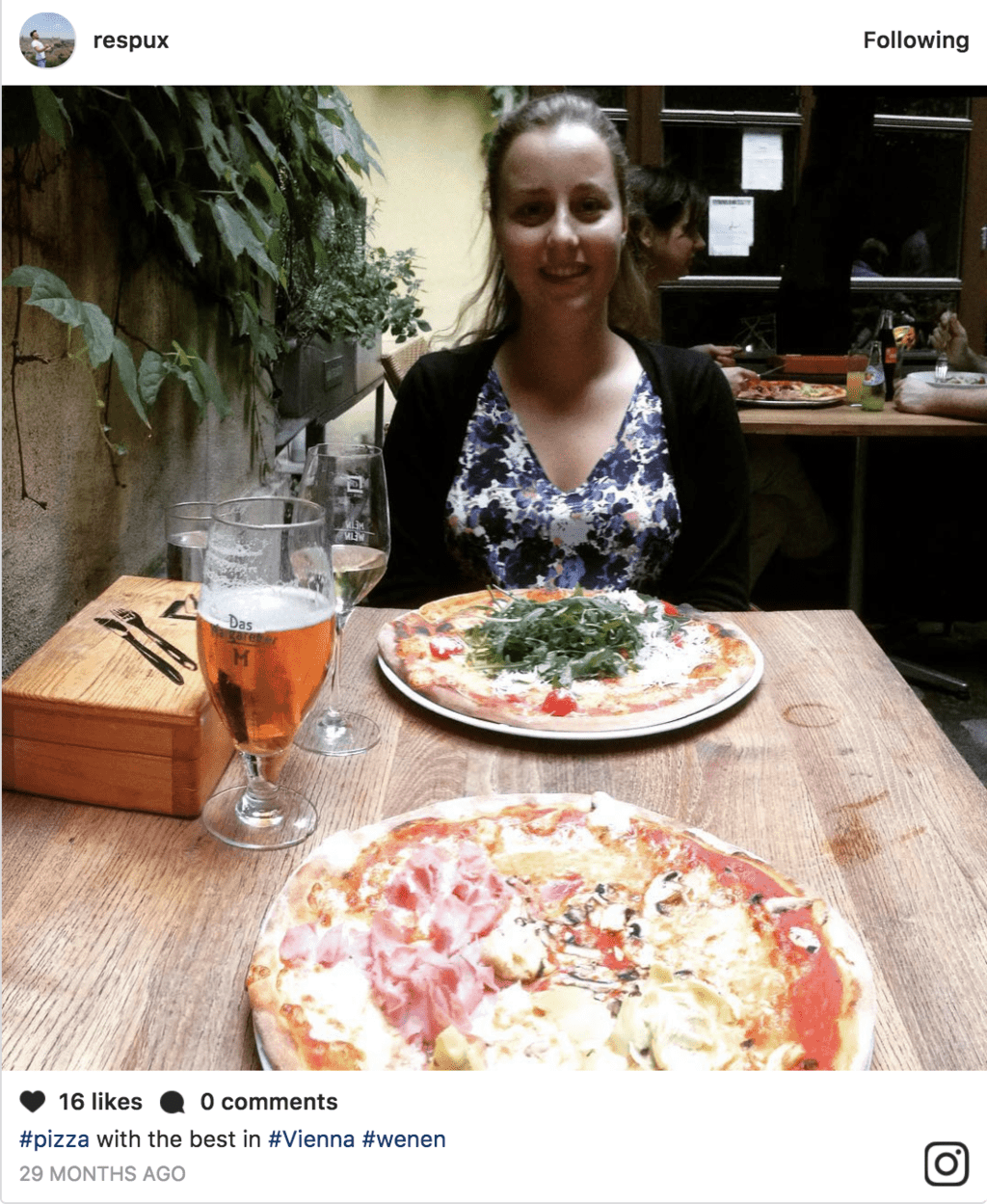 Pizza in Vienna, Austria