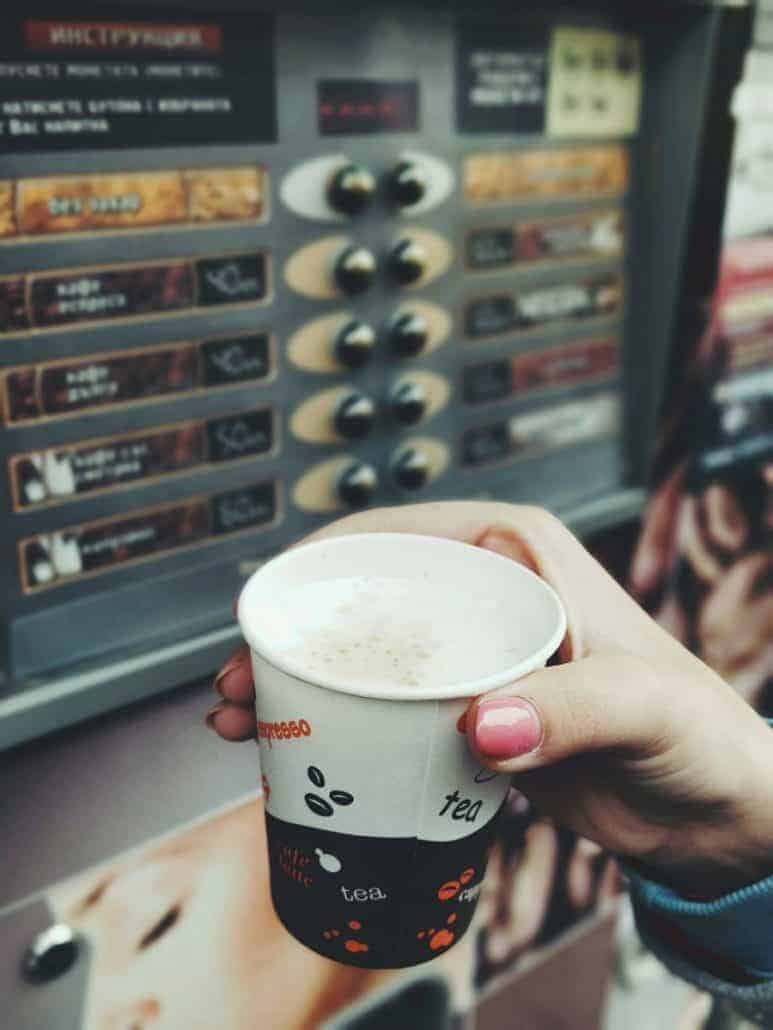 Coffee machines on every street corner
