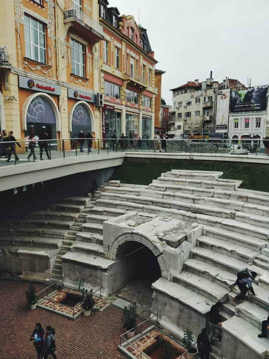 The ancient stadium of Plovdiv