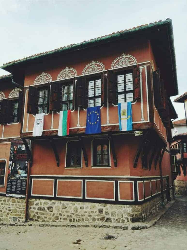 painted houses in the old town of plovdiv