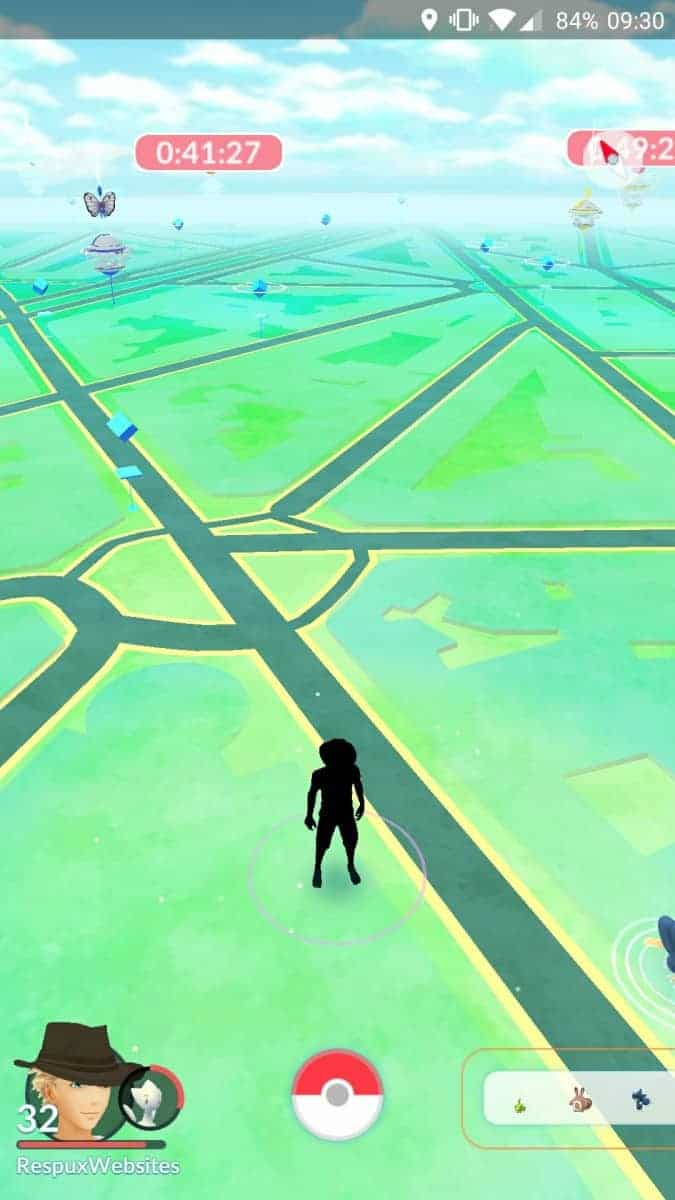 Area with a lot of Pokestops and gyms