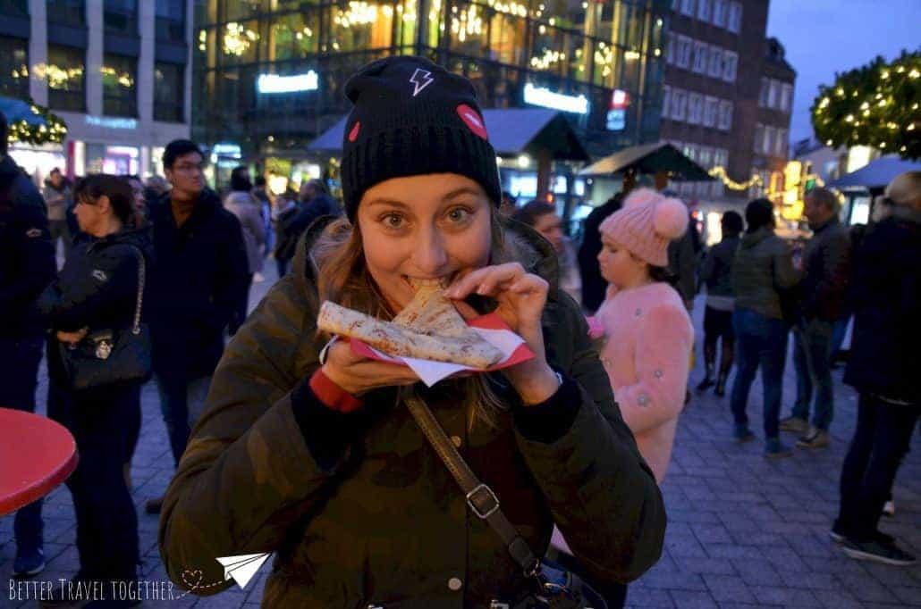 Katrijn with a nutella pancake crepe