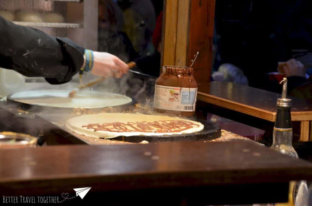 Nutella pancake crepe