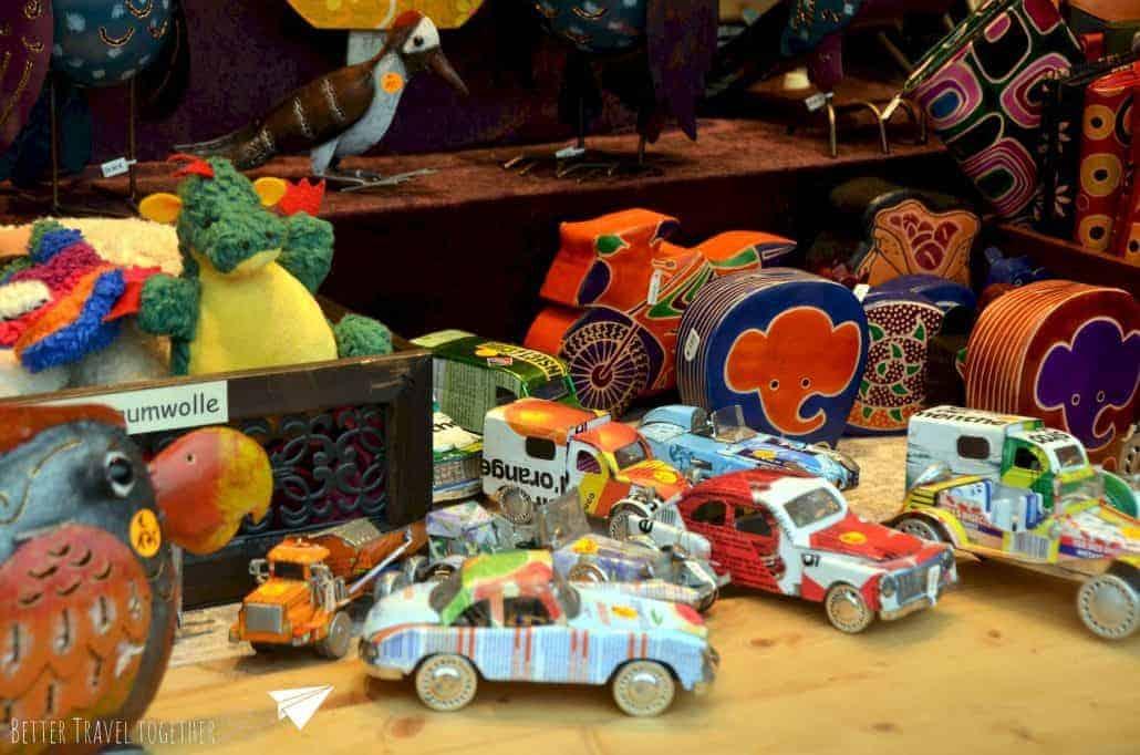 handmade tin cars