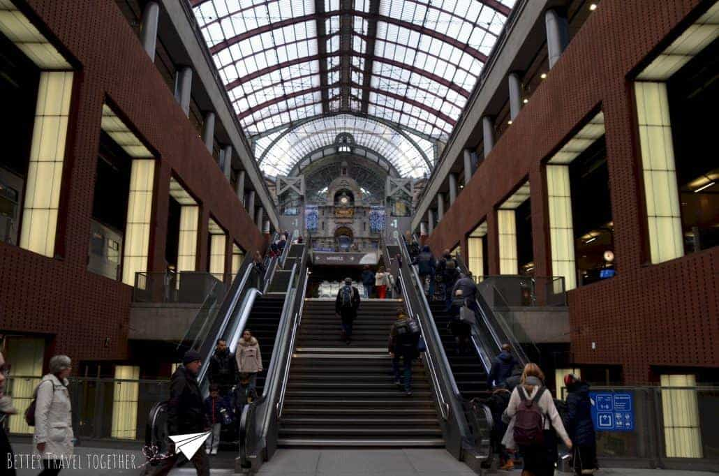 Antwerp central station inside