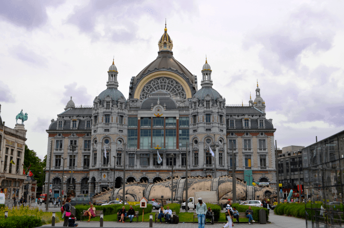 Antwerp central station outside by Better Travel Together