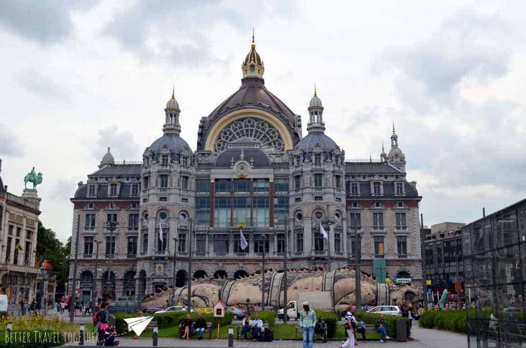 Antwerp central station outside view
