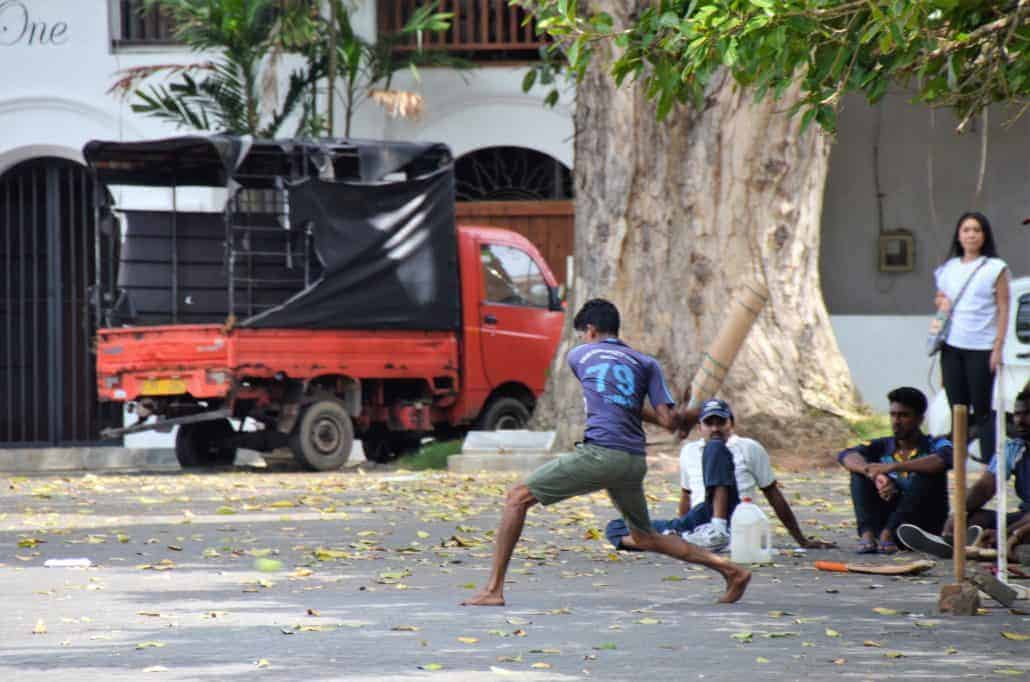 Cricket players in Galle