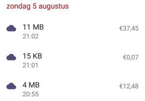 7 minutes internet: €50