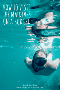 how to visit the maldives on a budget pinterest