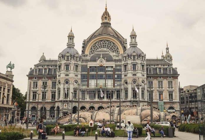 Train station Antwerp, Belgium