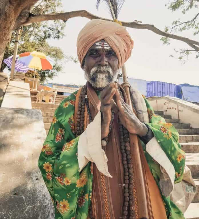 Dressed up man Hampi, India