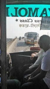 bus with broken window shyamoli