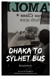 Dhaka to Sylhet bus